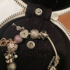 Pandora bracelet with 12 charms